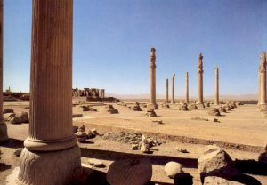 The columns of the Apadana of Persepolis