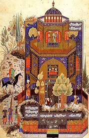 Khusraw at Shirin's palace, from a Khamsah by Nezami