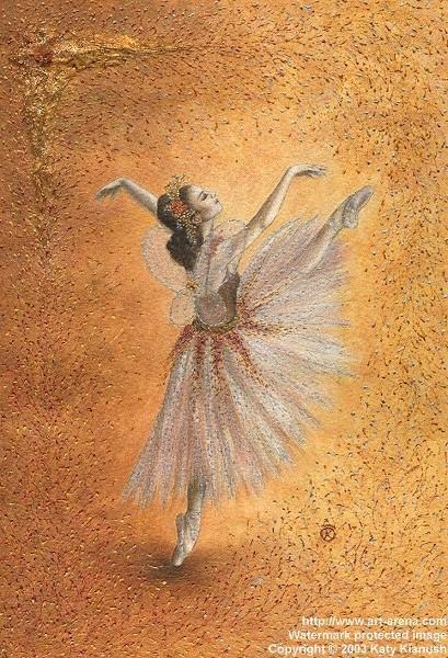 彩铅手绘图片舞蹈